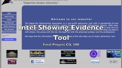 Thumbnail for entry Intel Showing Evidence Tool