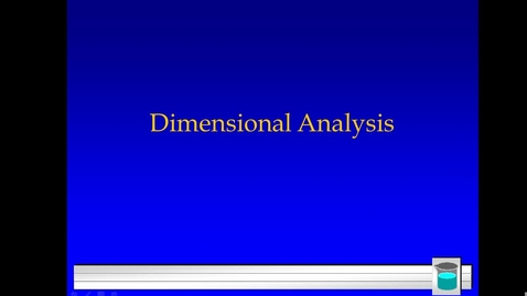 Thumbnail for entry Unit 1: Dimensional Analysis and First Example p.16