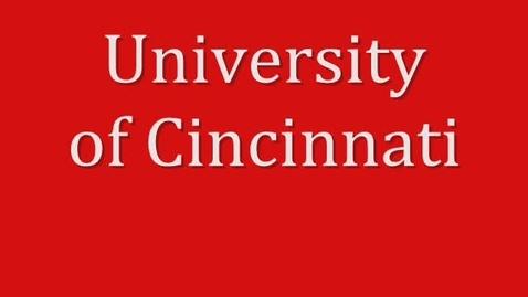 Thumbnail for entry Elise Miller's University of Cincinnati Presentation