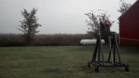Thumbnail for entry Trebuchet Practice Launches