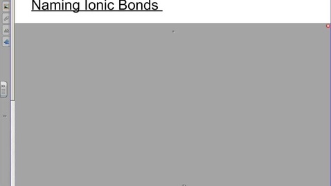 Thumbnail for entry Ionic Naming and Formulas Refresher