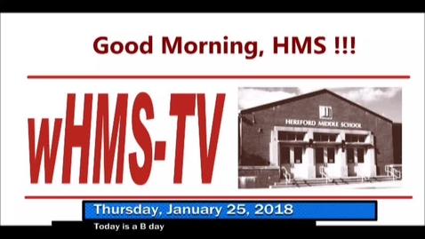 Thumbnail for entry 1-25-18 WHMS Morning News