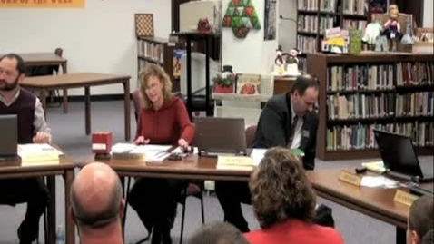 Thumbnail for entry School Board Meeting 12/08/11