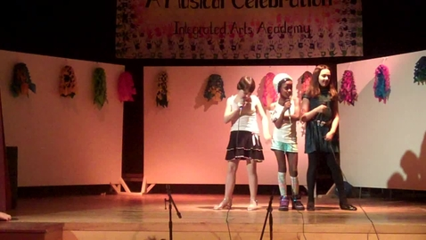 Thumbnail for entry Tiffany, Kaylie And Luwize  singing to somebody to love Integrated Arts Academy
