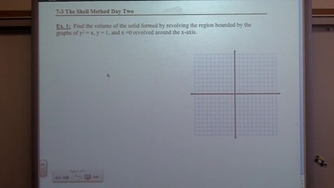 Thumbnail for entry Calculus Section 7-3 day two Shell Method