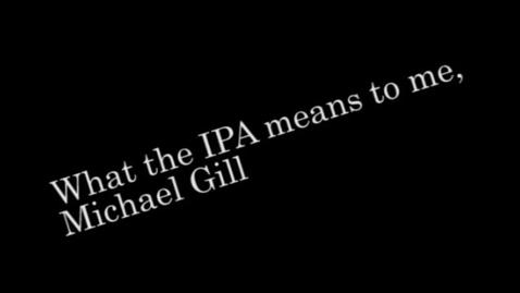 Thumbnail for entry IPA Testimonial Michael Gill