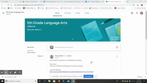 Thumbnail for entry Google Classroom for Gina! _-).webm