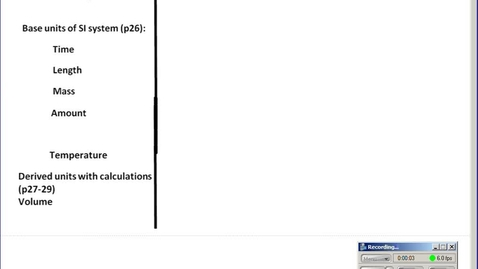 Thumbnail for entry Stephens Chemistry: (2-17-14) Calculations #1 Density