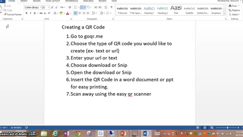 Thumbnail for entry Creating a QR Code
