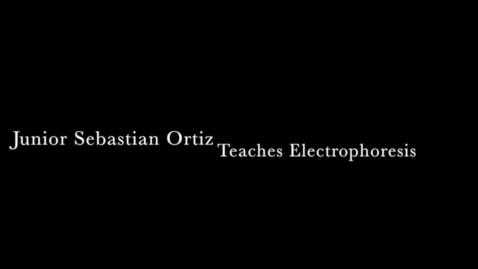 Thumbnail for entry Junior Sebastian Ortez teachers science to underclassmen
