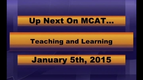 Thumbnail for entry MCPS Teaching and Learning Jan 5 2015
