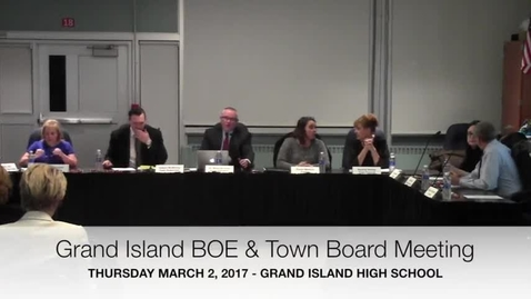 Thumbnail for entry GICSD BOE-Town Board Meeting 3-2-2017
