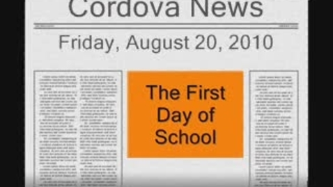 Thumbnail for entry First Week of School News