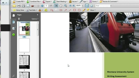 Thumbnail for entry Editing PDFs with Acrobat 8
