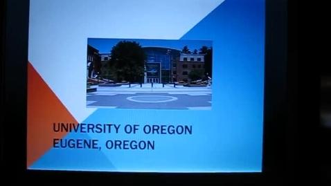 Thumbnail for entry University of Oregon