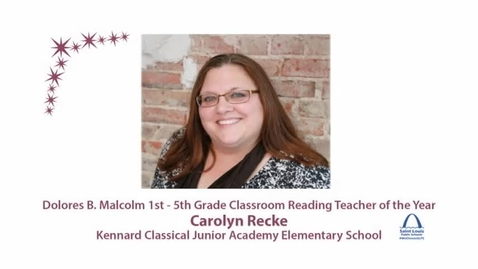 Thumbnail for entry SLPS Reading Teacher of the Year, Carolyn Recke