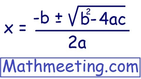 Thumbnail for entry Solve Quadratic Equations using Quadratic Formula