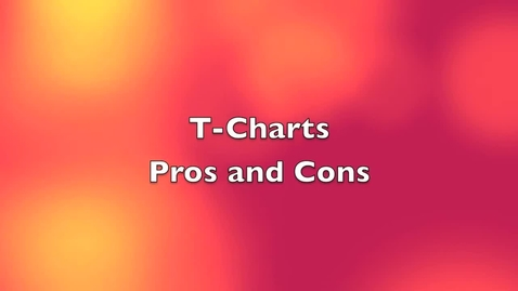 Thumbnail for entry 4th App- T Charts Pros and Cons