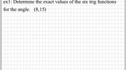 Thumbnail for entry Trig Function of Any Angle