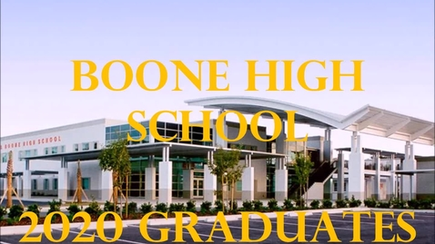 Thumbnail for entry 2020 Boone Senior Car Parade
