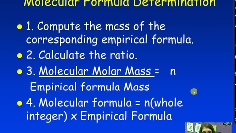 Thumbnail for entry Unit 3 Molecular Formulas