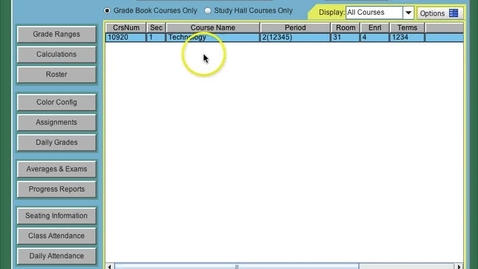 Thumbnail for entry Web2School Gradebook - Adding Assignments