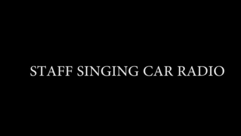 Thumbnail for entry The Staff Sings Car Radio - WSCN (PTV 4 2017)