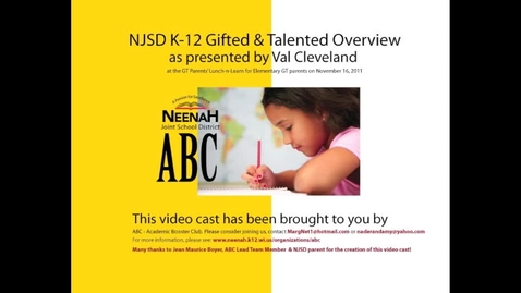 Thumbnail for entry NJSD K-12 GT Overview