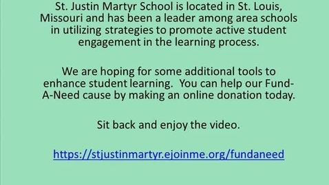 Thumbnail for entry St. Justin Martyr School