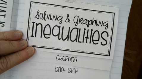 Thumbnail for entry Graph and Solve One Step Inequalities