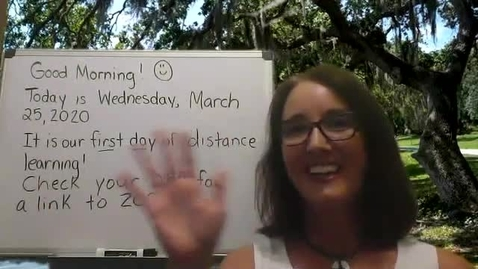 Thumbnail for entry Morning Meeting - March 25