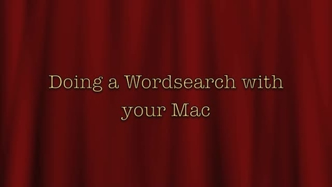 Thumbnail for entry Wordsearches on Mac