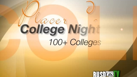 Thumbnail for entry College Night 2010