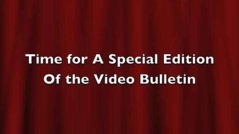 Thumbnail for entry Video Bulletin for 3-23-2011