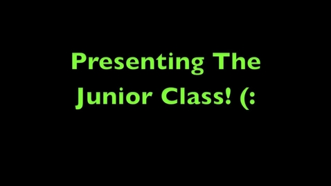 Thumbnail for entry Junior Class Roll Call