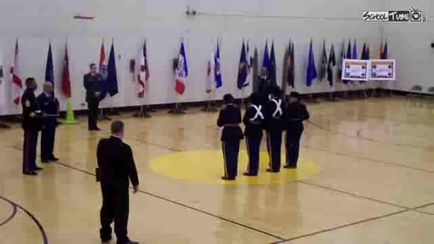 Thumbnail for entry Phoenix Military Drill Team at City Wide Competition