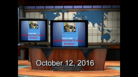 Thumbnail for entry Orca Live October 12, 2016