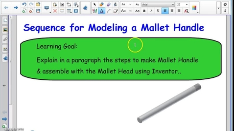 Thumbnail for entry Pegboard: Model Mallet Handle and Assembly of Mallet
