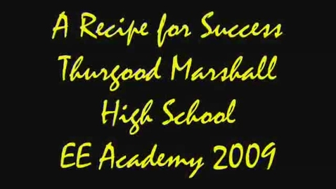 Thumbnail for entry A Recipe for Success