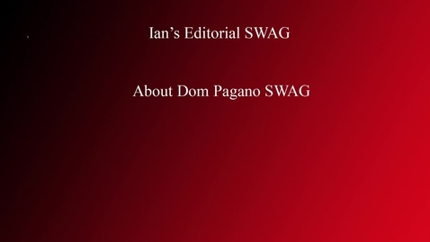 """Thumbnail for entry Why you should call Dom Pagano """"Decked Out"""" WSCN Editorial"""