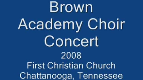 Thumbnail for entry 2008-1 Tommie Brown Academy 5th Grade Choir Concert