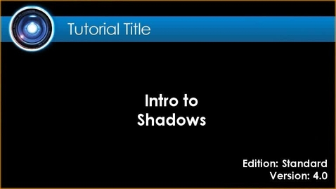 Thumbnail for entry iClone Tutorial - Shadows