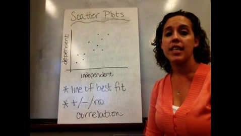 Thumbnail for entry Pre-Alg - Sect 6-3 Scatterplots