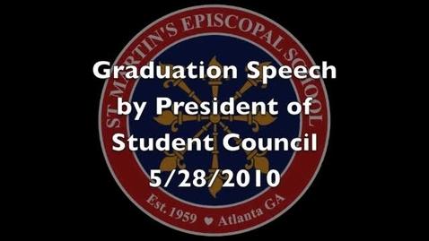 Thumbnail for entry Graduation Speech