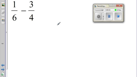 Thumbnail for entry Subtracting Rational Numbers
