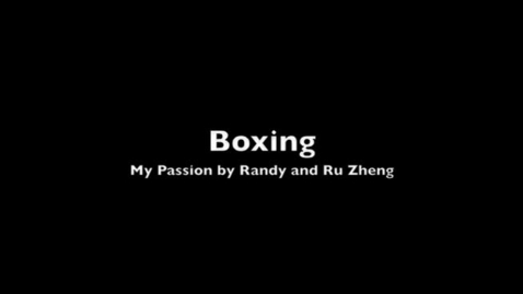 Thumbnail for entry My Passion Boxing