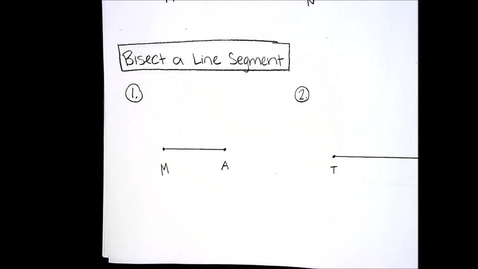Thumbnail for entry Constructions - Perpendicular Bisector