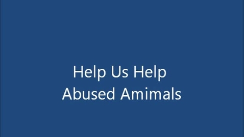 Thumbnail for entry Tolerance Team helps abused animals - Spring 2014