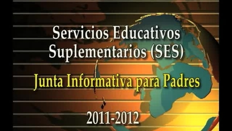 Thumbnail for entry Supplemental Educational Services Spanish Version