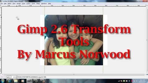 Thumbnail for entry Gimp Transform Tool